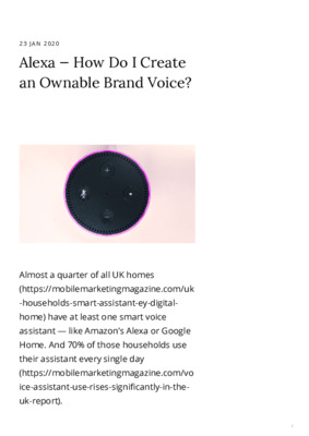 Alexa — How Do I Create an Ownable Brand Voice?