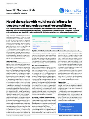 Novel therapies with multi-modal effects for treatment of neurodegenerative conditions