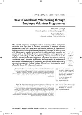 How to Accelerate Volunteering through Employee Volunteer Programmes