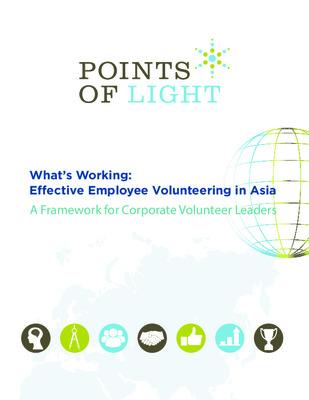 What's Working: Effective Employee Volunteering in Asia