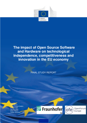 Knut Blind  et al. The Impact of Open Source Software and Hardware on Technological Independence, Competitiveness and Innovation in the EU Economy. Luxembourg: Publications Office of the European Union, 2021.