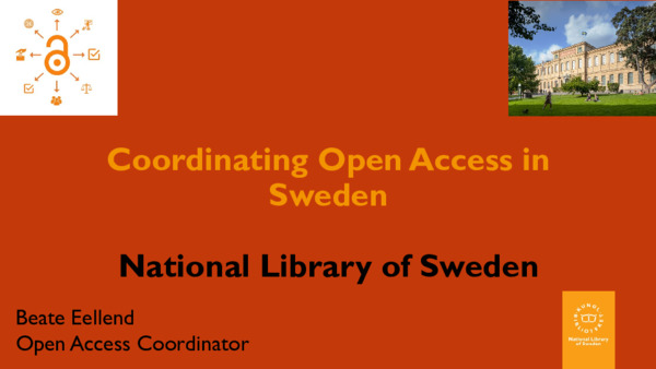 Coordinating Open Access in Sweden | Beate Eellend | November, 2019
