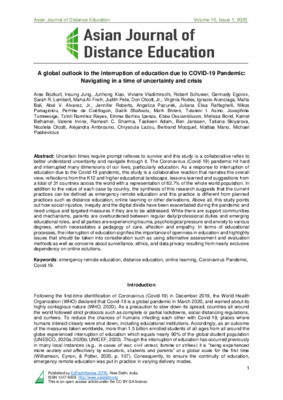 The Dependency of Educational Institutions around the World on Online Solutions in the Pandemic Period