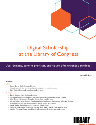 Insights from the Library of Congress on Collection Readiness, Capacity Building and Service Digitization