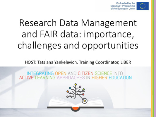 Research Data Management  and FAIR Data | Birgit Schmidt and Heather Andrews | Zenodo, Jul 7, 2020