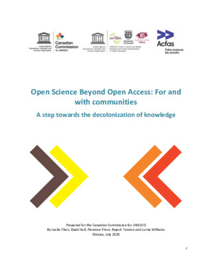 Open Science Beyond Open Access: For and with Communities | Leslie Chan et al. | Canadian Commission for UNESCO's IdeaLab, Ottawa, Canada, July 2020