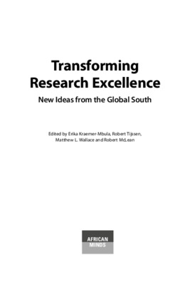 Transforming Research Excellence: New Ideas from the Global South | Erika Kraemer-Mbula et al., eds. | African Minds,   2020