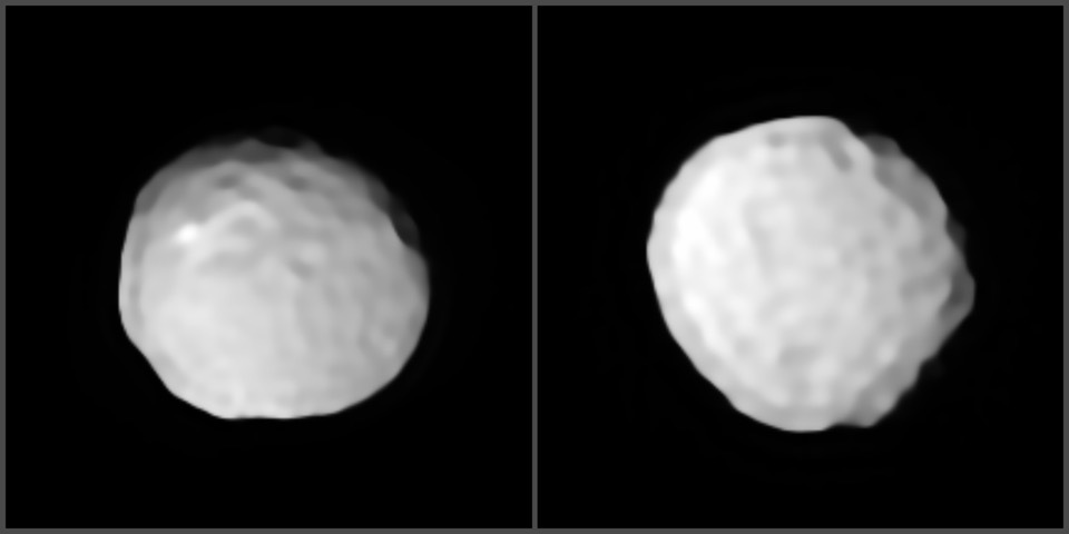 Dimpled Like A Golf Ball, The Very Large Telescope Reveals the Cratered Surface of Pallas