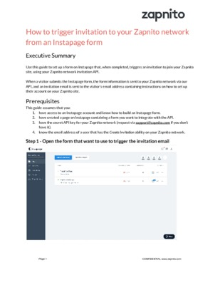 How to invite users to your Zapnito network using an Instapage landing page