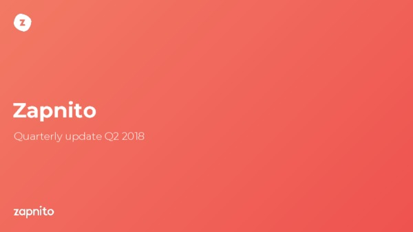 Zapnito quarterly update Q3 2018