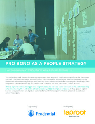 Taproot Foundation: Pro Bono as a People Strategy