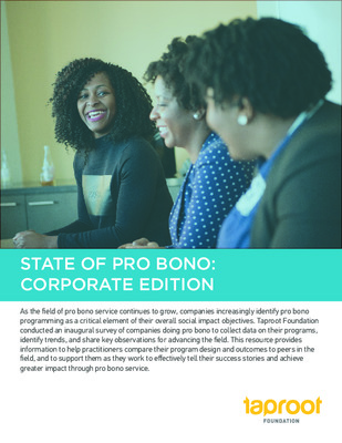 Taproot Foundation: State of Pro Bono, Corporate Edition