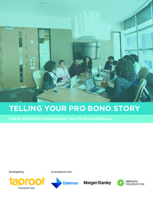 Taproot Foundation: Telling Your Pro Bono Story