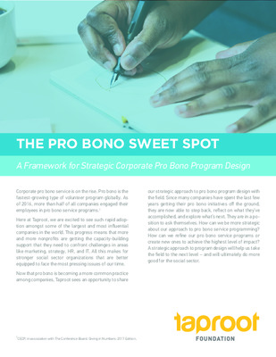 Taproot Foundation: The Pro Bono Sweet Spot