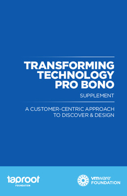 Taproot Foundation: Transforming Technology Pro Bono - Discover and Design