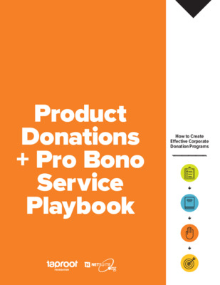 Taproot Foundation: Pro Bono Service + Product Donations Playbook