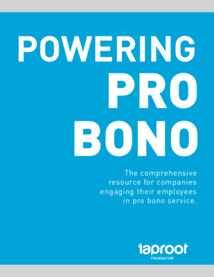 Taproot Foundation: Powering Pro Bono