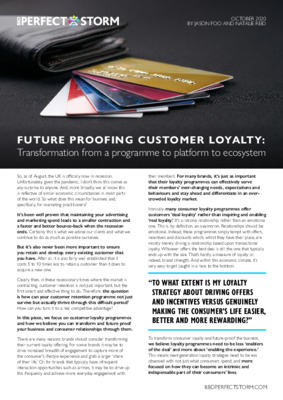 Future Proofing Customer Loyalty