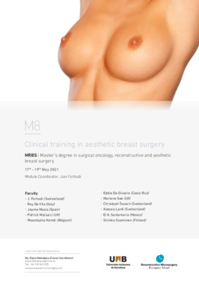 Clinical training in aesthetic breast surgery
