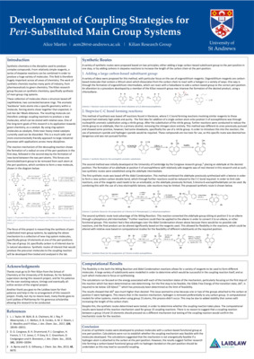 Development of Coupling Strategies for Peri-Substituted Main Group Systems Poster