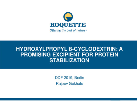 Hydroxylpropyl ß-cyclodextrin: A Promising Excipient for Protein Stabilization