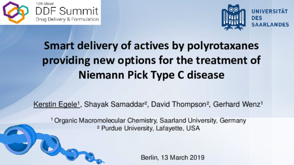 Smart Delivery of Actives by Polyrotaxanes Providing New Options for the Treatment of Niemann-Pick Typ C Disease