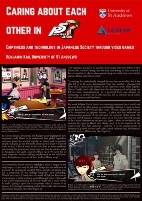 Laidlaw Research Poster - Caring About Each Other in Persona 5 Royal