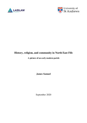 History, religion and community in North East Fife, Laidlaw Research, JS