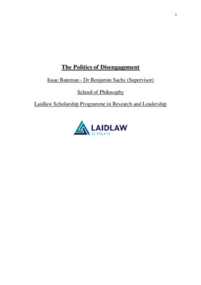 The Politics of Disengagement - Laidlaw research essay