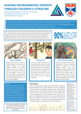 Shaping environmental empathy (poster)
