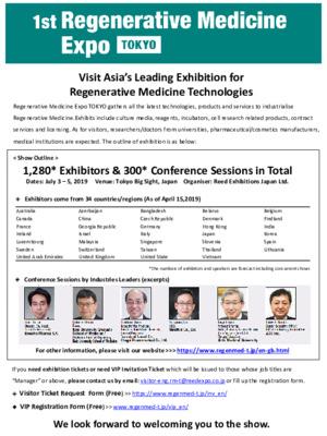 1st Regenerative Medicine Expo Tokyo
