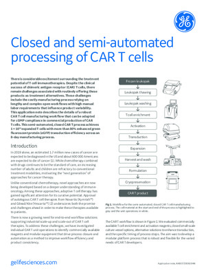 Closed and semi-automated processing of CAR T cells