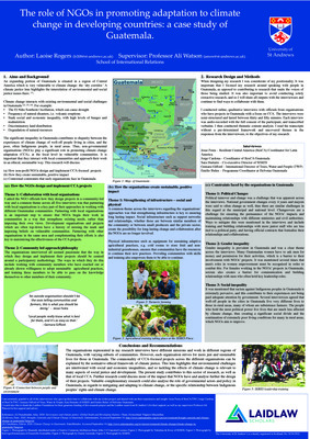 Research Poster: The Role of NGOs in promoting adaptation to climate change in developing countries: a case study of Guatemala.
