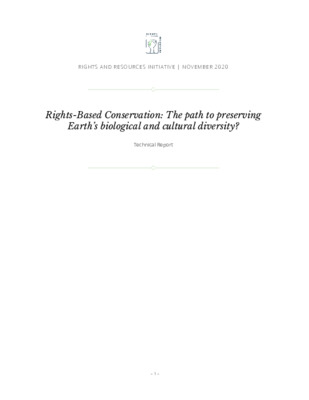 Rights-Based Conservation: The path to preserving Earth's biological and cultural diversity?