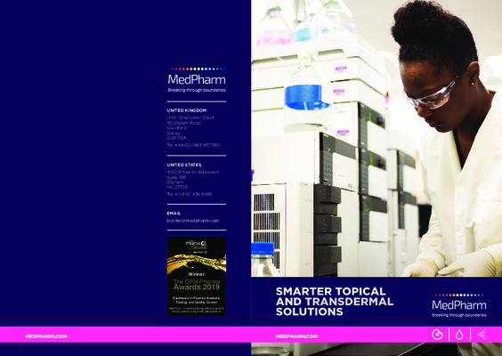 MedPharm UK A5 brochure