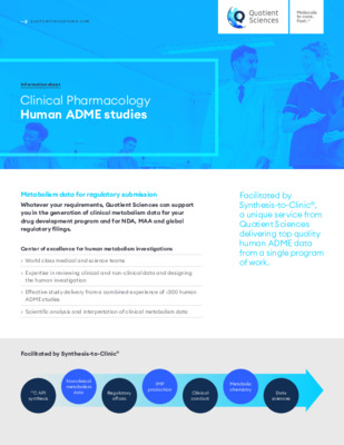Quotient Sciences - Integrated Human ADME - Digital Infosheet