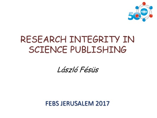 Research Integrity in Science Publishing