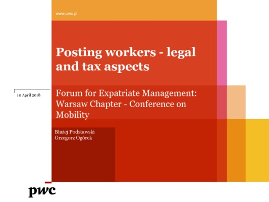 Employees Mobility and Legal and Tax Issues