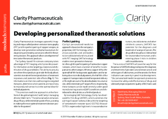 Developing personalized theranostic solutions