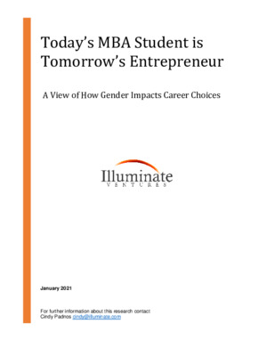 "Illuminate Ventures Whitepaper ""Today's MBA Student is Tomorrow's Entrepreneur"""