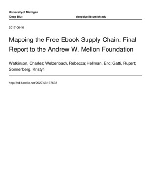 Mapping Free Ebook Supply Chain_Final Report