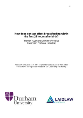 How does contact affect breastfeeding within the first 24 hours after birth? Summer one report