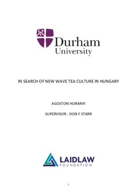 In Search of New Wave Tea Culture in Hungary