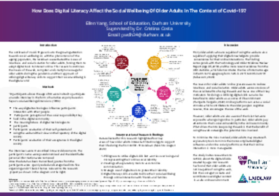 How Does Digital Literacy Affect the Social Wellbeing Of Older Adults In The Context of Covid-19