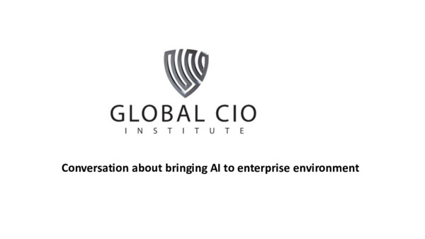 Conversation about bringing AI to enterprise environment