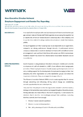 Employee engagement and gender pay reporting