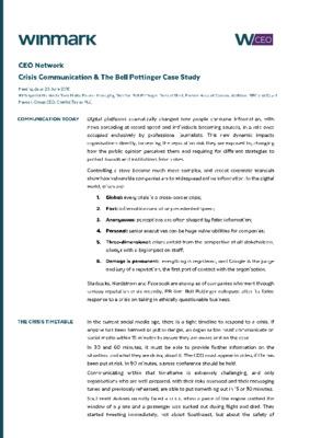 Crisis Communication & Bell Pottinger Case Study