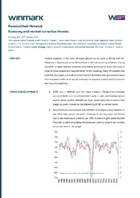 Economy and market correction threats