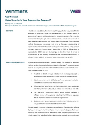 Cyber Security Is Your Organisation Prepared