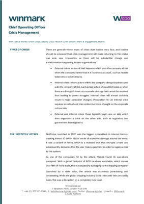 Crisis Management: Managing Reputational Damage